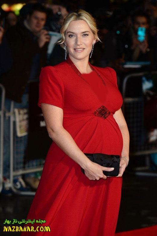 عکس کیت وینسلت+ستاره تایتانیک در آستانه مادر شدن